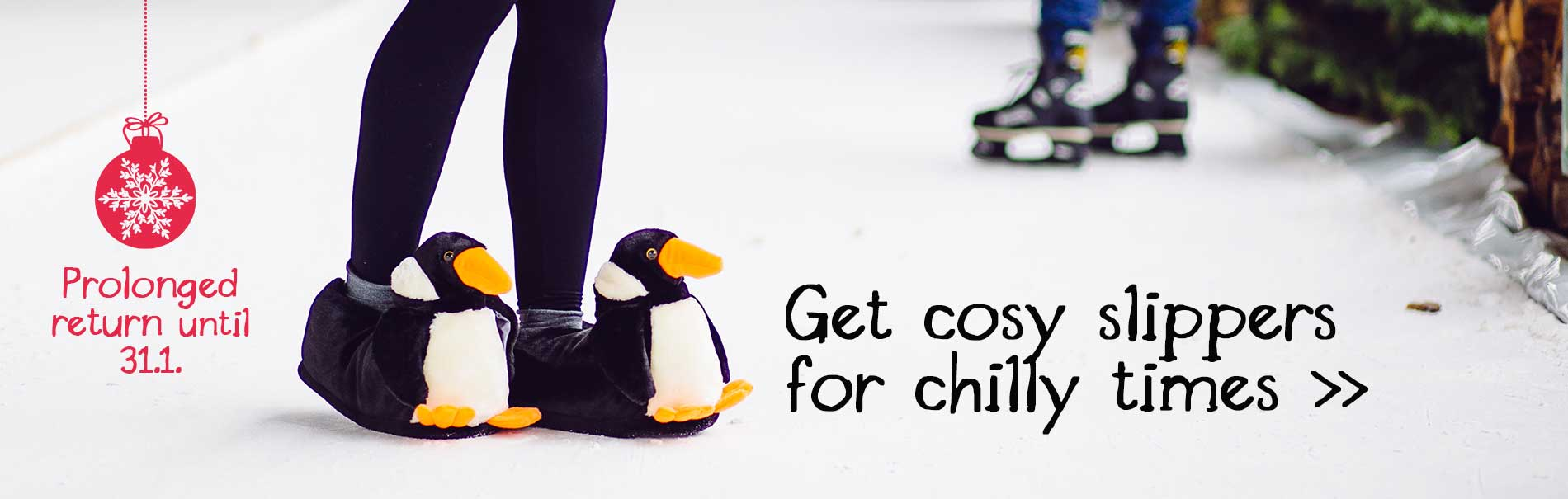 Penguin slippers for xmas