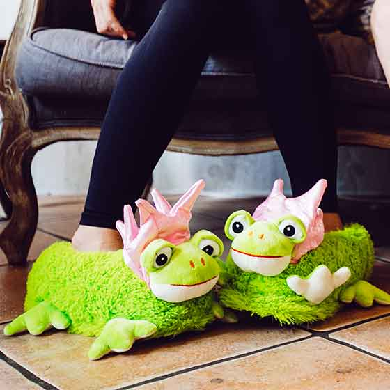 funny frog slippers