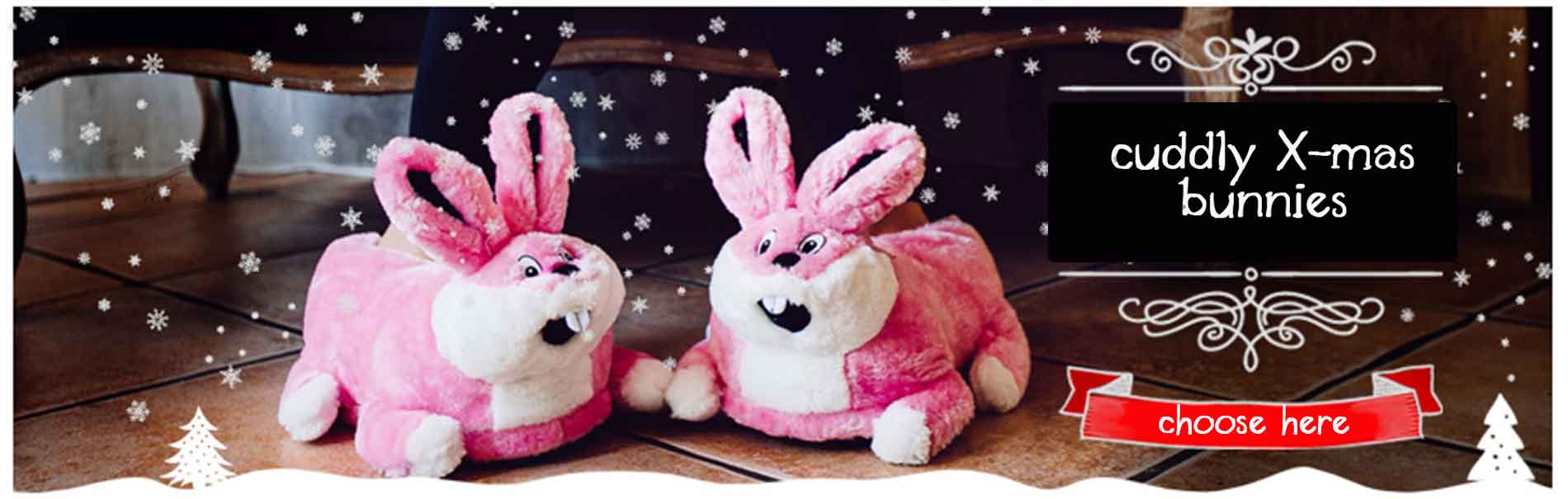 pink bunnies slippers