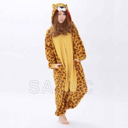Leopard onesie brown