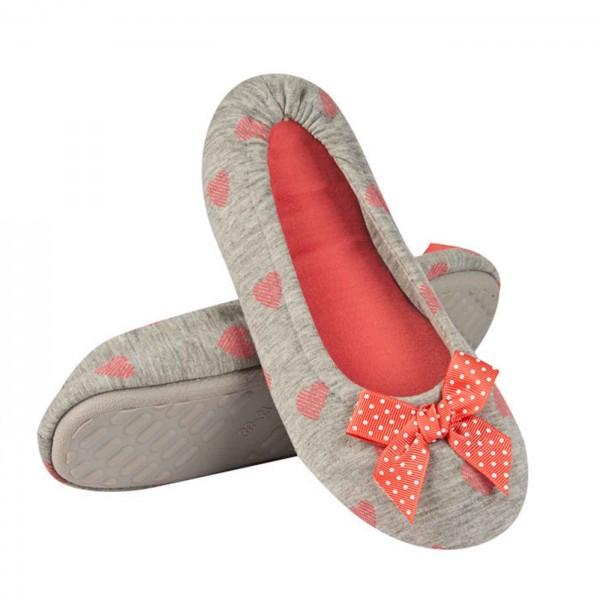 Ballerina Slippers Orange & Grey