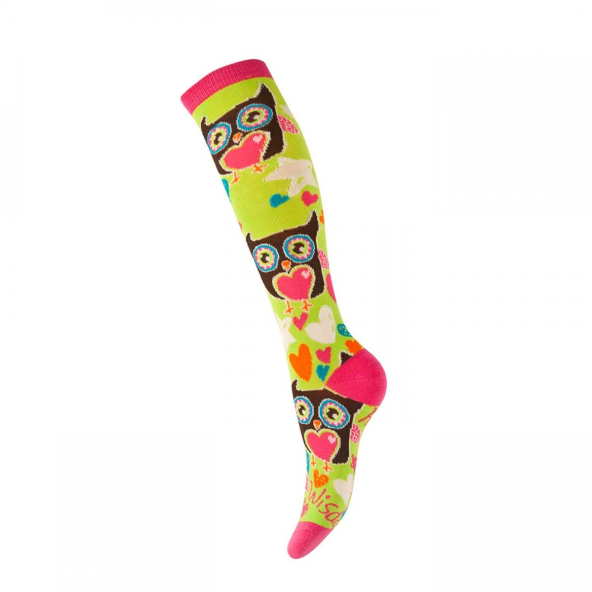 Glowsocks with owl pattern