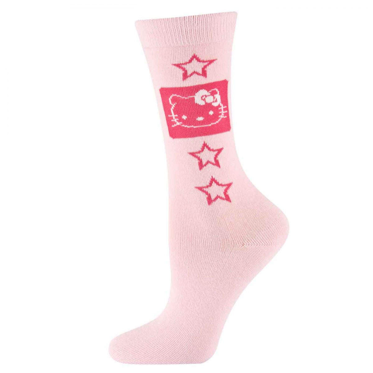 Hello Kitty Socks pink with stars
