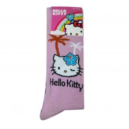 Hello Kitty Socks pink palm elements