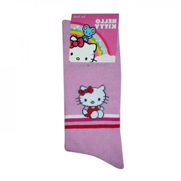 Hello Kitty Socks pink stripes