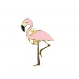 Pink flamingo pin