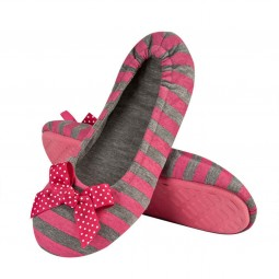 Ballerina pink grey striped