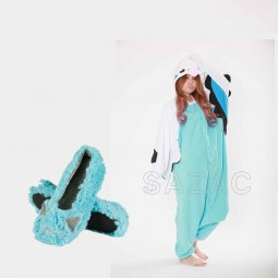 Turquoise slippers and onesie package