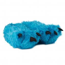 Paw Slippers blue with Claws