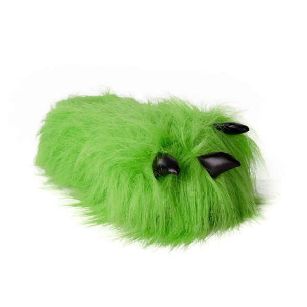 Paw Slippers green with Claws