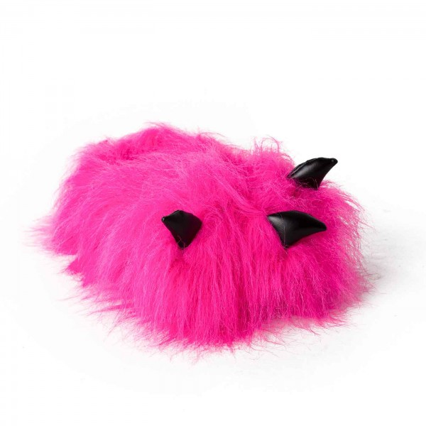 Paw Slippers pink with Claws