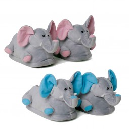 Funny Elephant Plush Slippers for Two
