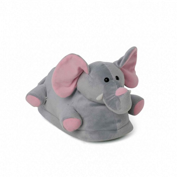 Elephant plush slippers pink ears