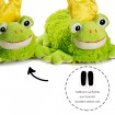 Funny Plush Slippers Frog Prince