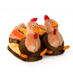 Turkey plush slippers yellow