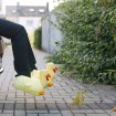 Chicken plush slippers yellow