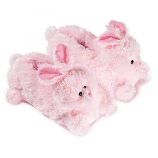 Plush Slippers Pink Bunny