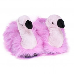 Funny Flamingo Plush Slippers
