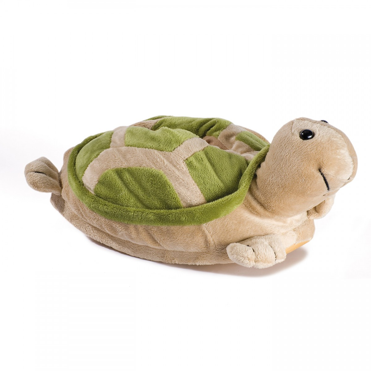 Buy Funny Plush Slippers Turtle, Choose Your Size | Funslippers.com Beige Und Grn