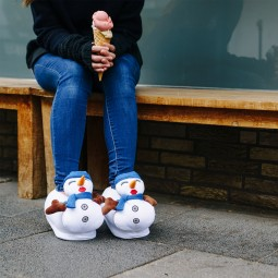 Funny Snowman Plush Slippers