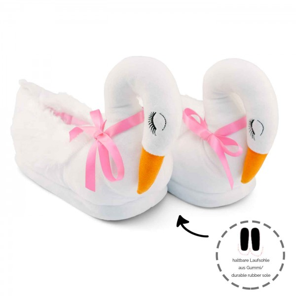 Funny White Swan Plush Slippers