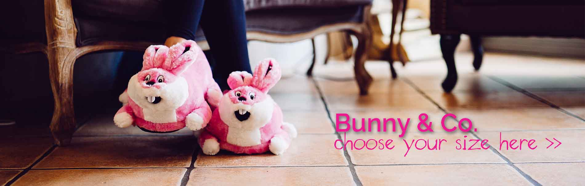 choose your own bunny slippers